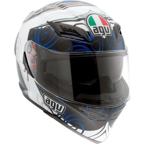 AGV Horizon Absolute Helmet , Distinct Name: Absolute White/Blue, Gender: Mens/Unisex, Helmet Category: Street, Helmet Type: Full-face Helmets, Primary Color: Blue, Size: 2XL 1301O2D0003011