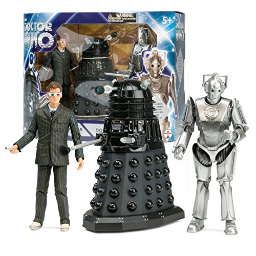 Underground Toys Doctor Who Doomsday Set 10th Doctor with Dalek & Cyberman Box Set Action Figure by Underground Toys