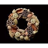 Exotic Creations Linen Closet - Dried flower wreath(Natural,L=40 cm X W=40 cm X D= 40 cm)