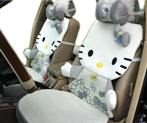 3d Ice Kitty Auto Car Rearview Front Rear Seat Saddle Cover 12pcs EMS Shipping Zj000156