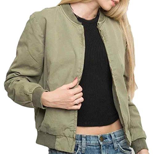donna giacca, FEITONG cappotto autunno inverno giacca strada donne giacche casual (S, Kaki)