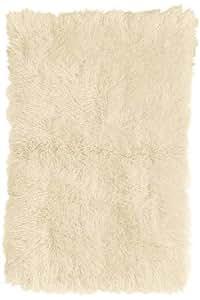 """Standard Flokati Area Rug, 2'4""""x8' RUNNER, WHITE"""
