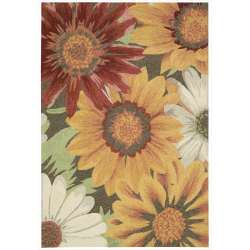 Nourison South Beach Indoor/Outdoor 2.6X4.0 Sunflower Area Rug, 100% Polyester