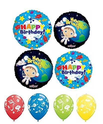 Outer Space Astronaut Boy Happy Birthday Balloon Kit (Outer Space Invitations compare prices)