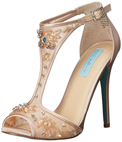 Blue by Betsey Johnson Women's SB-Holly dress Sandal, Champagne, 7 M US