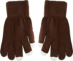 True Gear Adult Touch Gloves (brown)