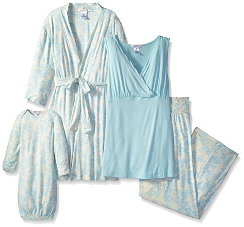 Everly-Grey-Womens-Maternity-Roxanne-Nursing-Pajama-Set-with-Baby-Gown
