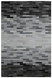 Matador Leather Hair-On Hide Rug, 5\' x 8\', Grey Blend