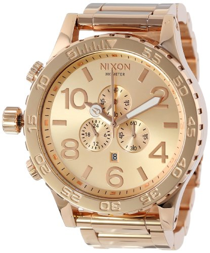 Nixon Men's 51-30 Chrono Watch Rose Gold Tone Solid Stainless Steel