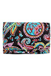 Vera Bradley Cotton All Wrapped Up Jewelry Roll Case In Parisian Paisley 14186-340