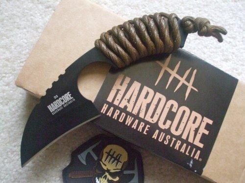 Hardcore Hardware Australia Lfk01 Tactical Knife Coyote Para-Cord Handle Khaki Sheath