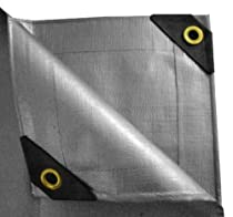 Boat Waterproof RV Or Pool Cover!!! 10X20 Tarp Cover 10X20 Silver//Black 2-Pack Extremely Heavy Duty 20 Mil Thick Material Great for Tarpaulin Canopy Tent