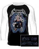 Metallica Ride The Lightning - Electric Chair Baseball-Longsleeve weiß/schwarz