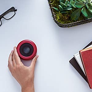 Bocinas AmazonBasics Micro Bluetooth, color rojo
