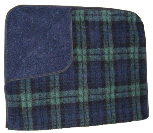 Hundedecke-zwei-Schichten-aus-weichem-Fleece-voll-waschbar-Black-Watch-Tartan-Blau-und-Grn-medium