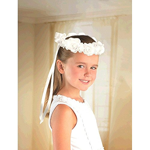 Wedding and Bridal Flower Girl Head Wreath (1ct)