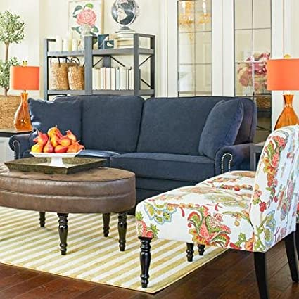 Contemporary Parisian Blue Velvet Apartment Size Settee Sofa   Perfect Steel Frame Back with Sinuous Spring Couch Furniture for Your Home Living Room or Office Space   8 Layers of Sumptuous Comfort Modern Seating that Features Pocketed Coil