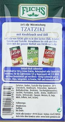 """Fuchs Let's dip """"Tzatziki"""", 5er Pack (5 x 12,5 g) von FUCHS - Gewürze Shop"""