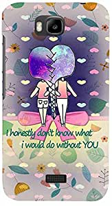 PRINTVISA Girly Friends Quote Case Cover for Huawei Honor Bee