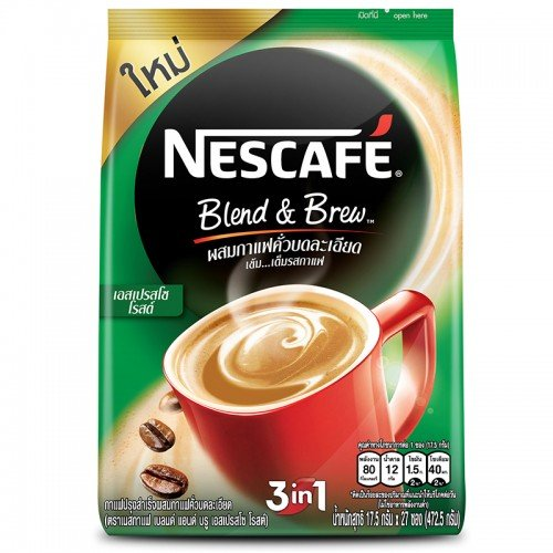 Nescafe Blend&Brew Instant Coffee Mix Espresso Roast 472.5 g. Contain 27 Sachets. (Mr Coffee Airpot compare prices)