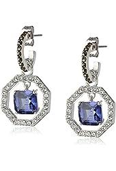 """Judith Jack """"Bold Bijoux"""" Sterling Silver Blue Cubic Zirconia Drop Earrings"""