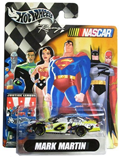 hot-wheels-naccar-racing-justice-league-6-mark-martin-batman-pfizer-164-scale-car