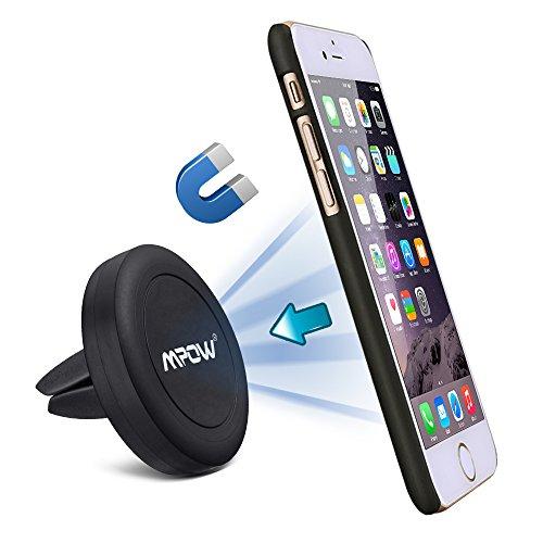 Mpow Grip Supporto Cellulare Auto Magnetico, Porta Cellulare Universale per Bocchetta Aria, per iPhone 6 plus / 6 / 5 / 5S / 5C / 4 / 4S, Samsung Galaxy Note 4 / 3 / S6 / S5 / S4 / S3, Sony, Nexus, LG ed altri Smartphone