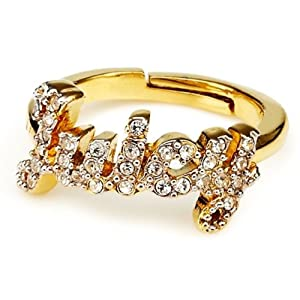 Juicy Couture Juicy Script Ring Gold Color Size 5