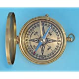 Antique Large Brass Pocket Compass