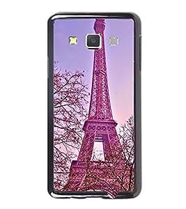 Fuson Premium 2D Back Case Cover Eiffel tower With Black Background Degined For Samsung Galaxy A3::Samsung Galaxy A3 A300F