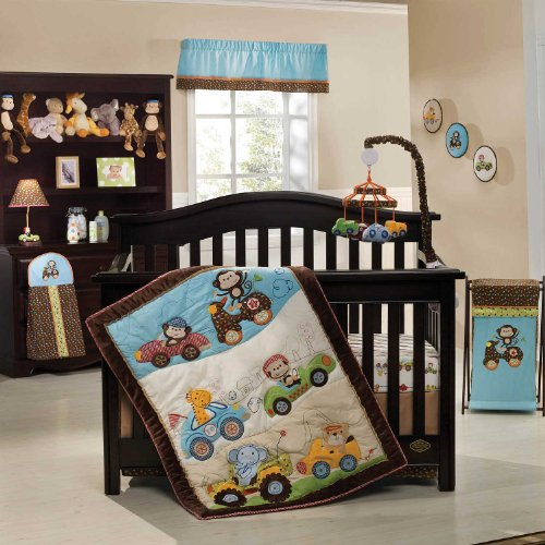 Kids Line Road Rally 4 Piece Crib Bedding Set