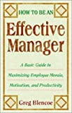 How to Be an Effective Manager: A Basic Guide to Maximizing Employee Morale, Motivation, and Productivity