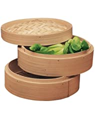 Progressive International 6.75 Inch Bamboo Steamer Baskets by Progressive+International