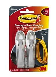 Command Cord Bundlers, White