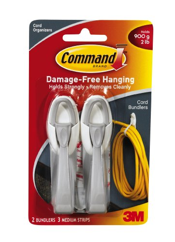 Command Cord Bundlers, White photo