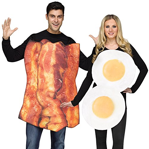 [Bacon and Eggs Costumes by Fun World] (Bacon And Egg Halloween Costume)