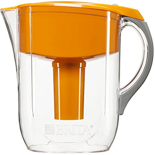 Brita 10 Cup Grand Water Pitcher with 1 Filter, BPA Free, Available in Multiple Colors (Brita Orange Grand Pitcher compare prices)