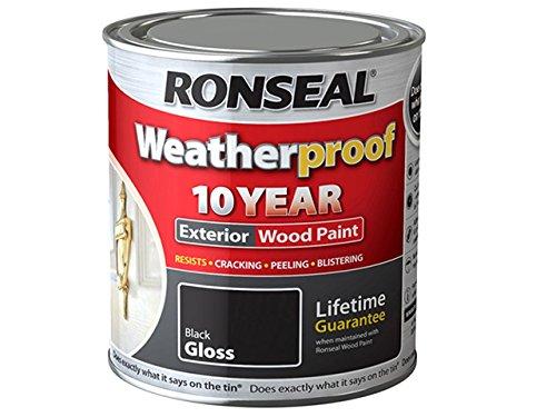 ronseal-rslwpblk750-750ml-weatherproof-10-year-exterior-wood-paint-gloss-black