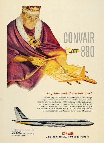 1958-ad-convair-jet-880-airplane-twa-delta-king-midas-original-print-ad