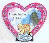 Disney World WDW Park 2014 Frozen Princess Elsa Anna Photo Frame Pink Magnetic Heart