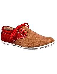 Aureno Men's Suede Sneakers - B011BGN8LE