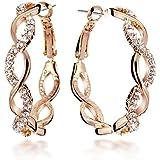 Gemini - Boucles d'oreille pour femme plaqué or