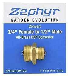 Zephyr Brass Converter Coupling - From 3/4