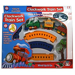 Clockwork Toy Train Set Wind Up And Go