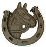 Iwgac Home Door Decorative Cast Iron Horse Shoe Door Knocker
