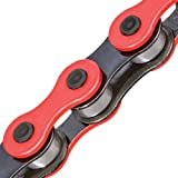 KMC Z510H Drop Buster Red & Black 1/8 BMX/Single Speed Chain.