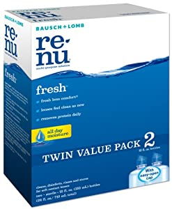 Bausch & Lomb renu fresh Multi-Purpose Solution Twin Pack (2-12 Fluid Ounce Bottles)