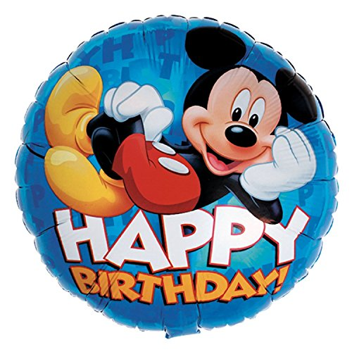 "Anagram International Mickey Happy Birthday Packaged Party Balloon, 18"", Multicolor"