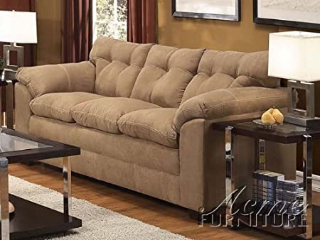 ACME 50360 Lucille Sofa with Latte Microfiber
