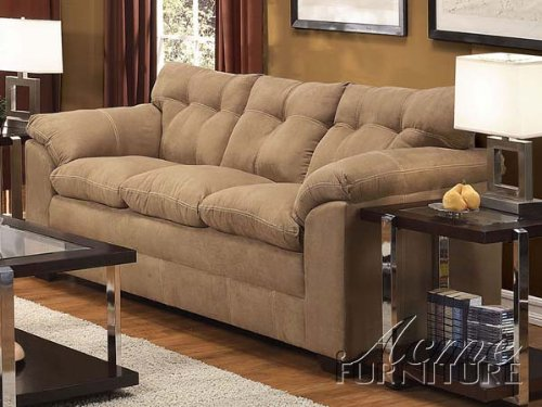 Acme 50360 Lucille Sofa With Latte Microfiber front-851672